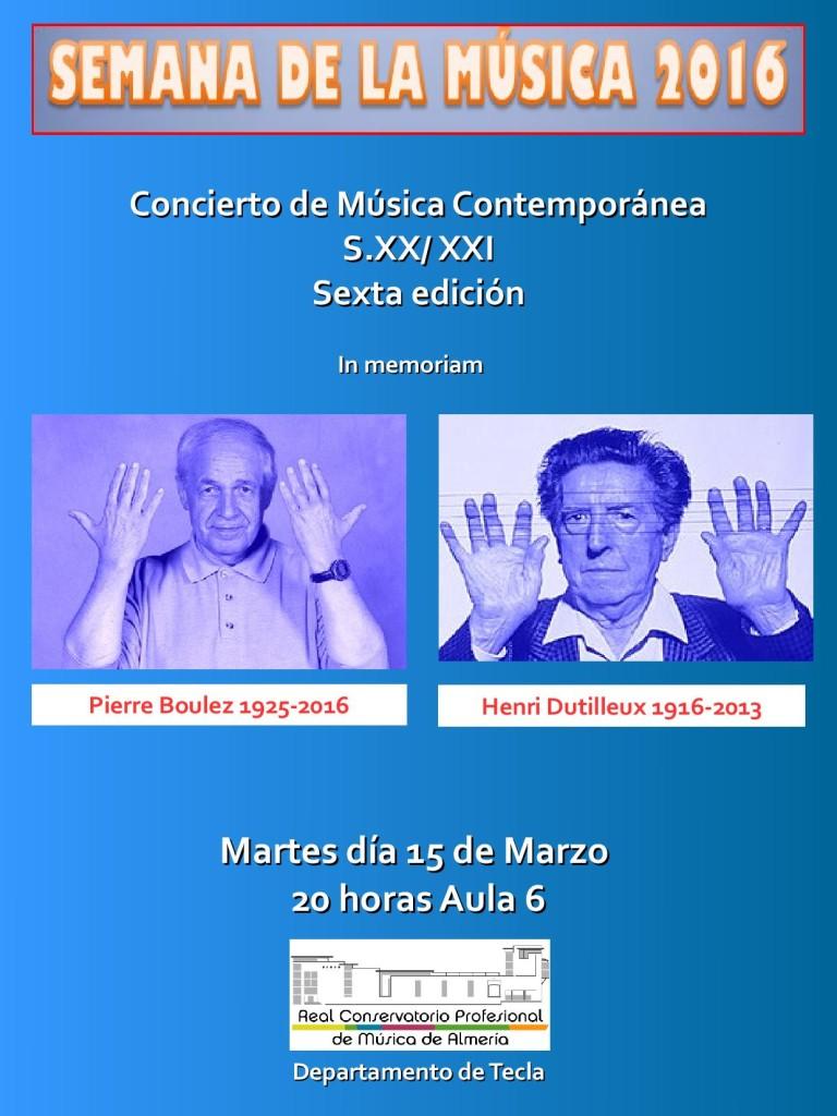 Sem Música 2016 M23 - Concierto Música contemporánea piano