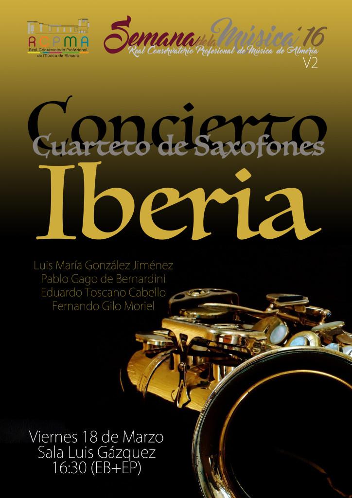 Sem Música 2016 V2 - Cuarteto de Saxofones Iberia