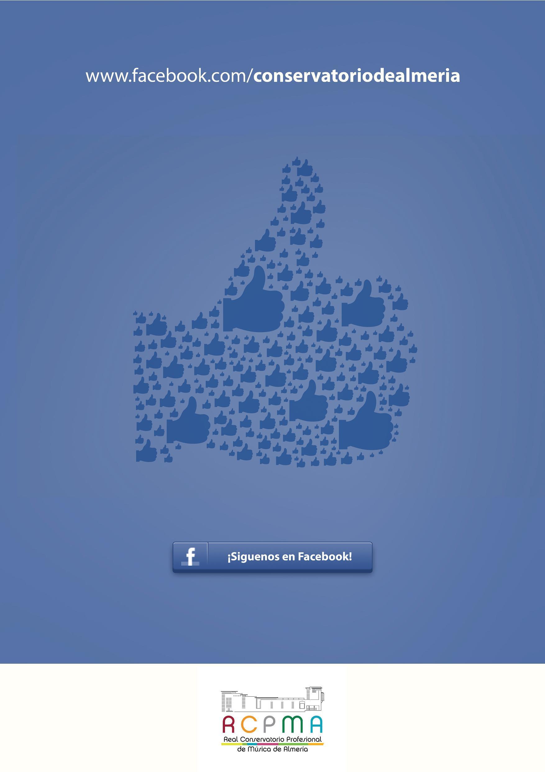 síguenos en facebook para WEB