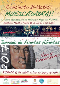 Musicadabra - Concierto Didáctico del Conservatorio de Almería @ Real Conservatorio Profesional de Música de Almería