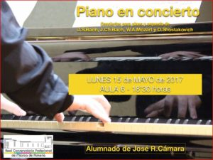 Piano en Concierto @ Aula 6 del Conservatorio de Almería