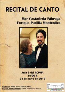 Recital de Canto de Mar Castañeda y Enrique Padilla @ Aula 6 del Conservatorio