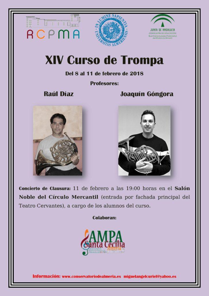 18-02-08 RCPMA XIV Curso de Trompa CARTEL