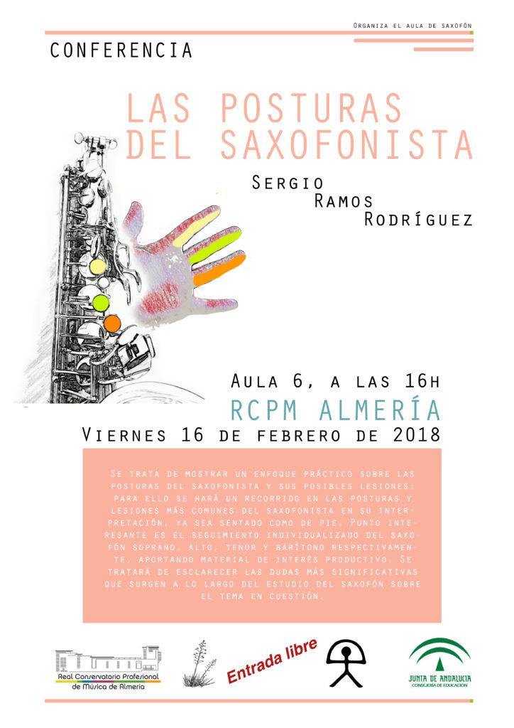 """Conferencia """"Las posturas del saxofonista"""" @ Aula 6 del Conservatorio de Almería"""