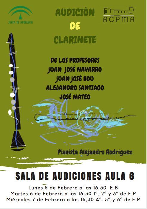 Audiciones generales de Clarinete @ Aula 6 del RCPMA