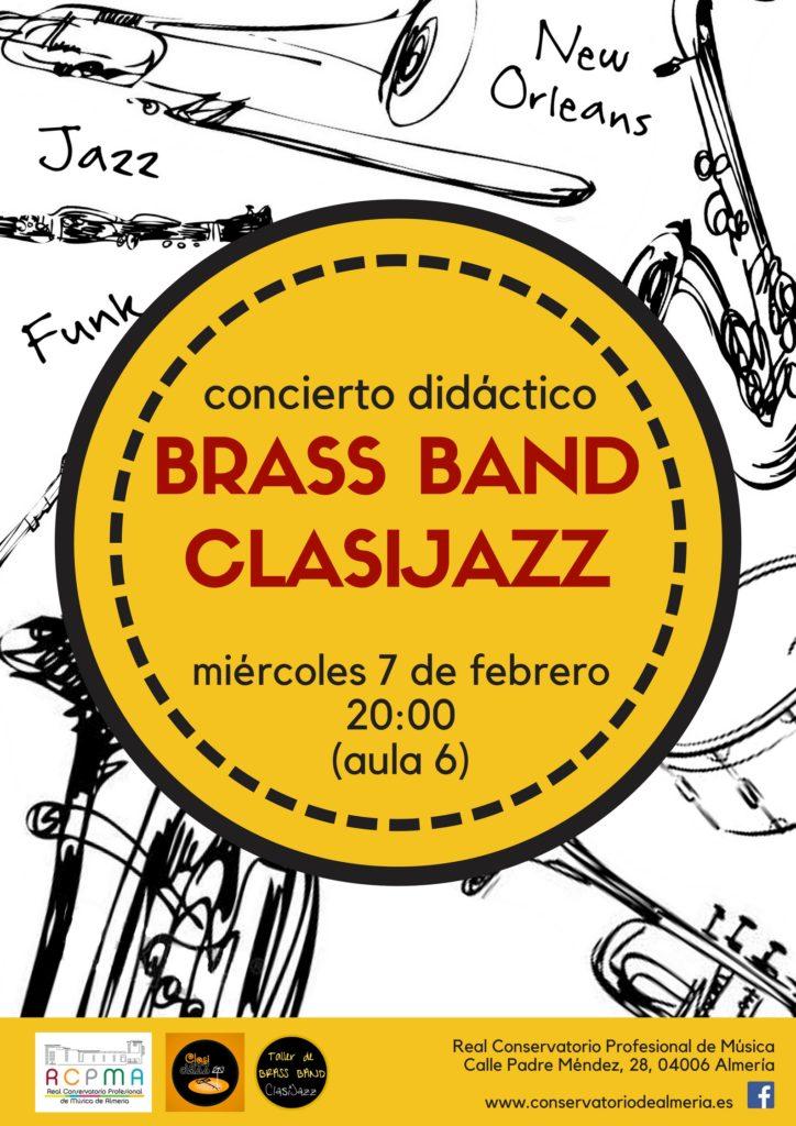 Concierto didáctico de la Brass Band de Clasijazz @ Aula 6 del RCPMA