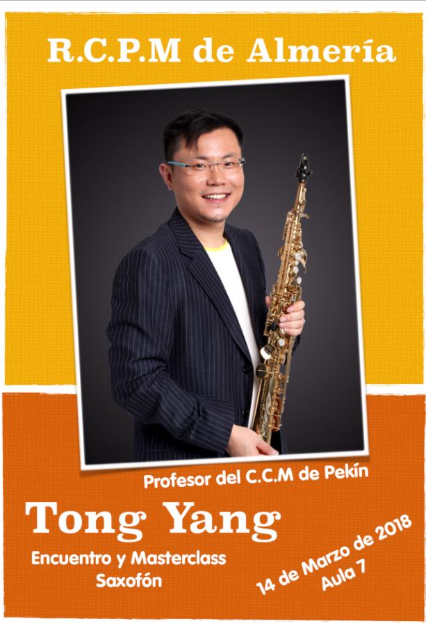 Encuentro con el saxofonista Tong Yang @ Aula 7 del RCPMA