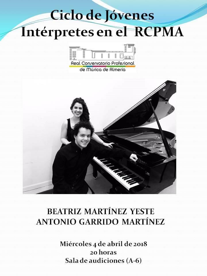 Concierto de Piano de Beatriz Martínez y Antonio Garrido @ Aula 6 del RCPMA