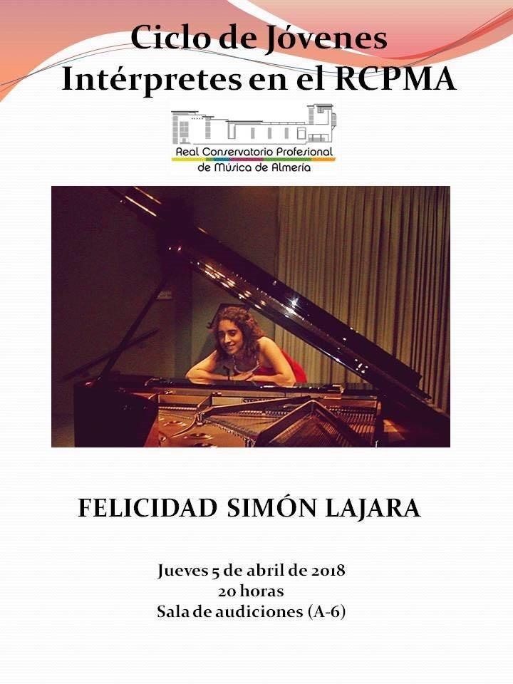 Concierto de Piano de Felicidad Simón @ Aula 6 del RCPMA