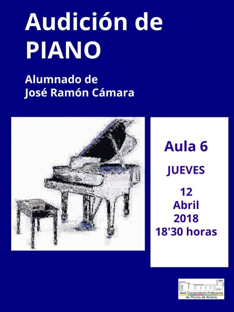 Audición de Piano de alumnos de J.R.Cámara @ Aula 6 del Conservatorio de Almería