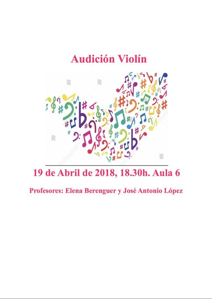 Audición de alumnos de violín de la profesora Elena Berenguer @ Aula 6 del Conservatorio de Almería