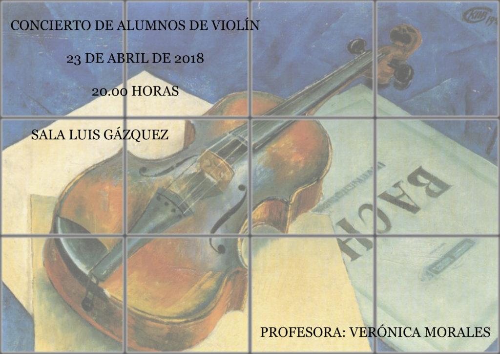 Concierto de violín de alumnos de la profesora Verónica Morales @ Sala Luis Gázquez del RCPMA