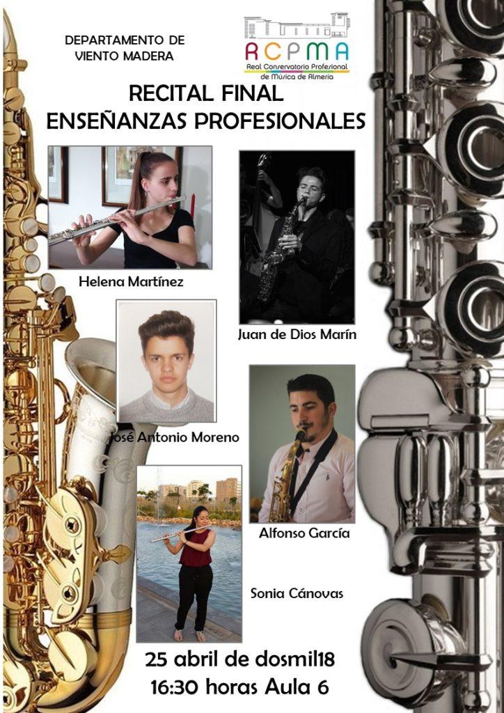 2º Concierto de Graduación del Departamento de Viento Madera @ Aula 6 del Conservatorio de Almería