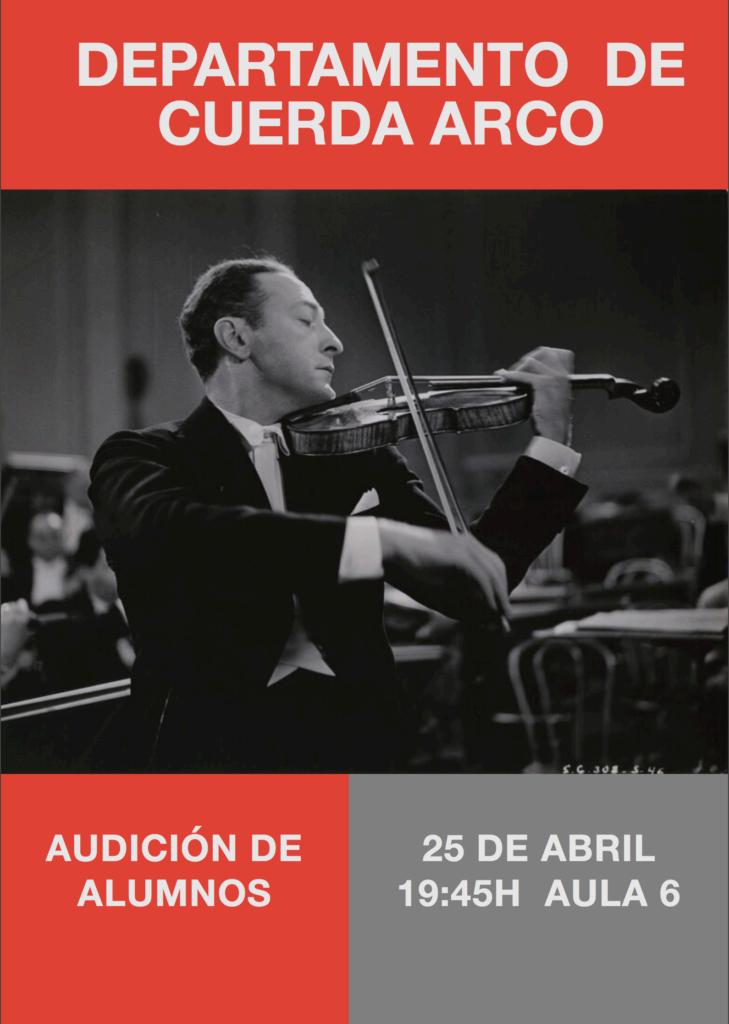 Audición del Departamento de Cuerda-Arco @ Aula 6 del Conservatorio de Almería