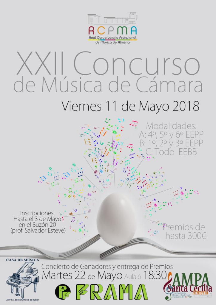 XXII Concurso de Música de Cámara del Conservatorio de Almería @ Aula 6 del RCPMA