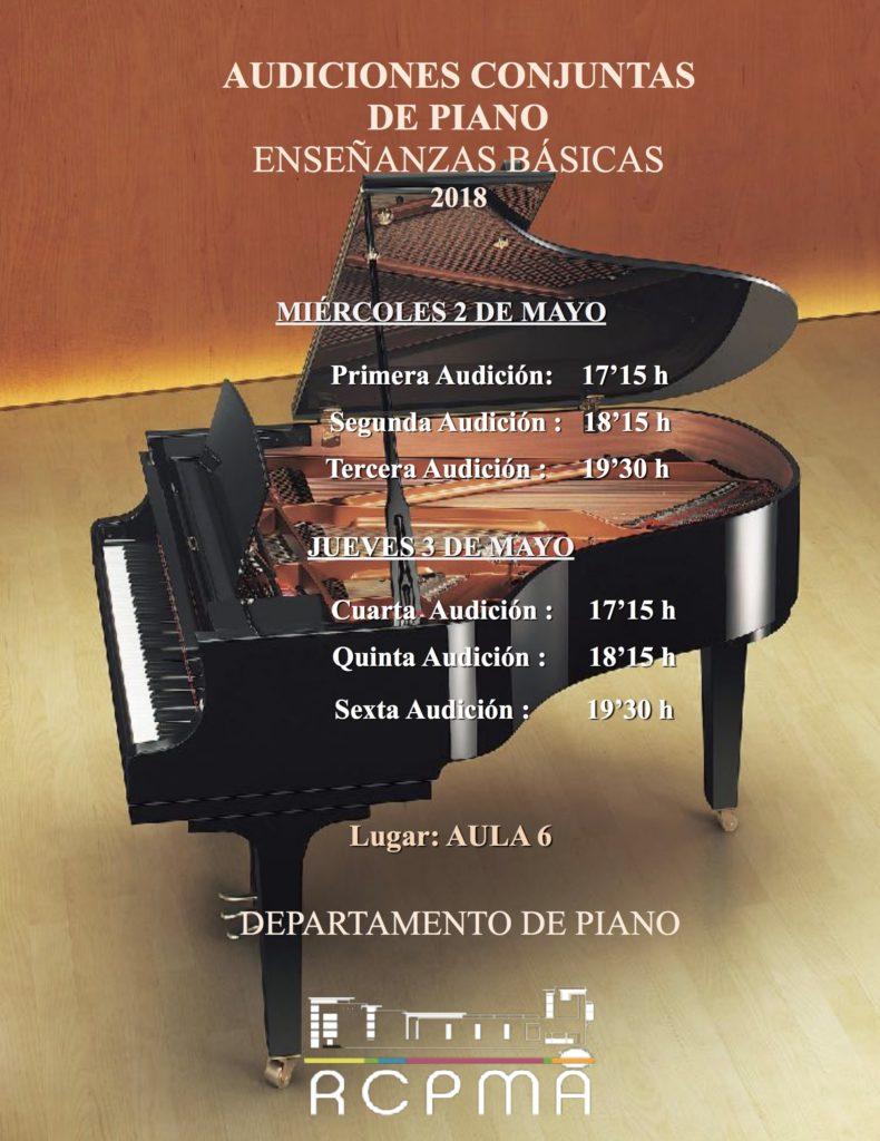Audiciones conjuntas de EB de Piano @ Aula 6 del Conservatorio de Almería