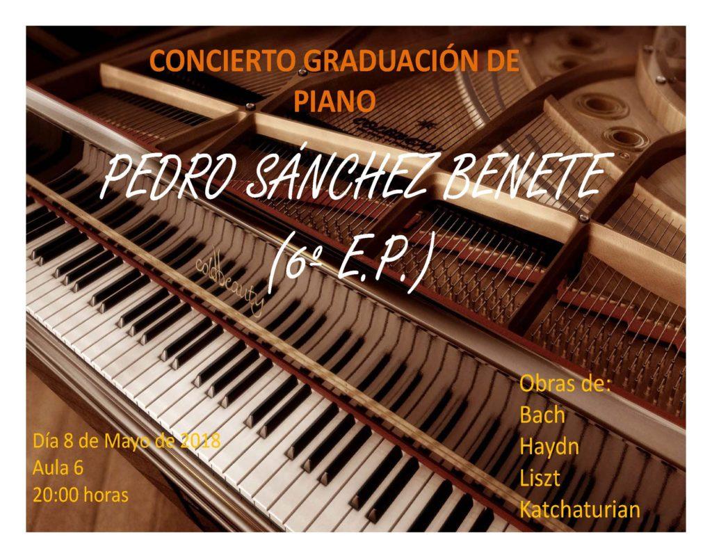 Concierto de Graduación de Pedro Sánchez Benete @ Aula 6 del RCPMA