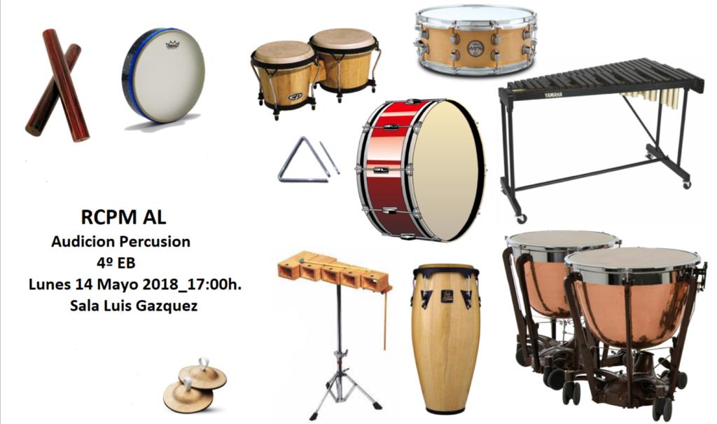 Audición de Percusión de 4EB @ Sala Luis Gázquez del RCPMA