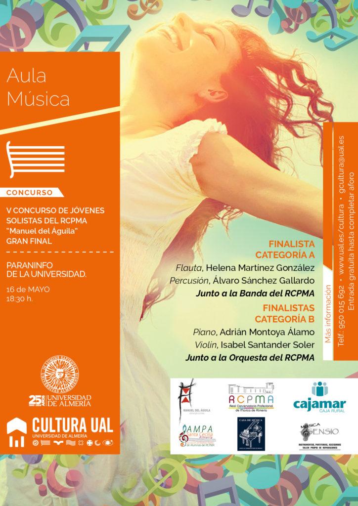 """Final del V Concurso de Solistas del RCPMA """"Manuel del Águila"""" 2018 @ Paraninfo de la Universidad de Almería (UAL)"""