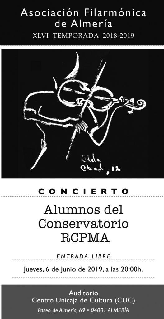 6 junio - Concierto alumnos RCPMA para la AFA @ Centro Unicaja de Cultura