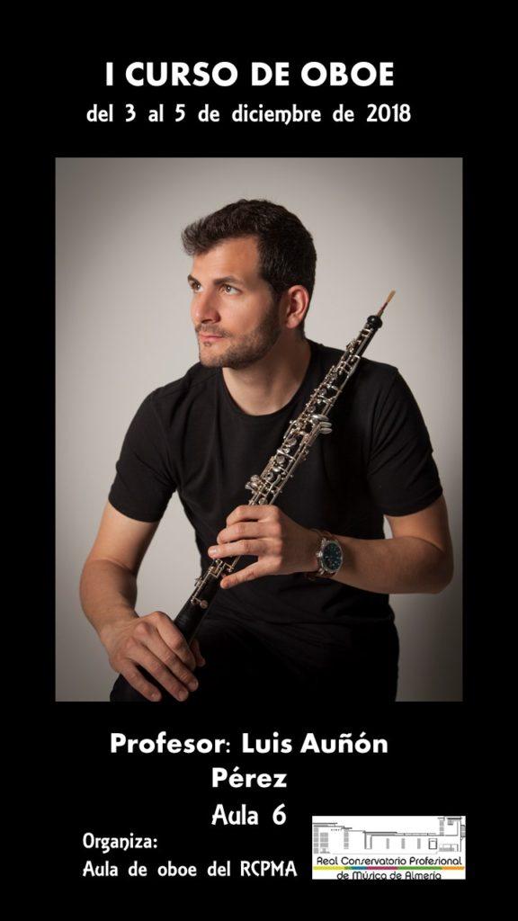 18-12-03 Curso oboe Luis Añón CARTEL